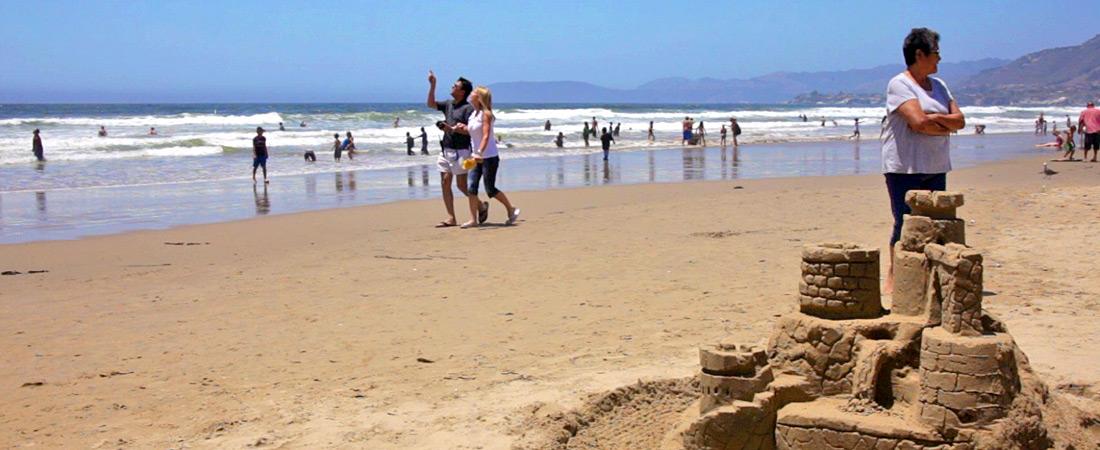 Sands Castle on the Beach